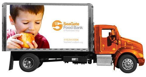 Truck Distribution Food Hunger Toledo