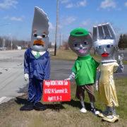 Bank Family mascots