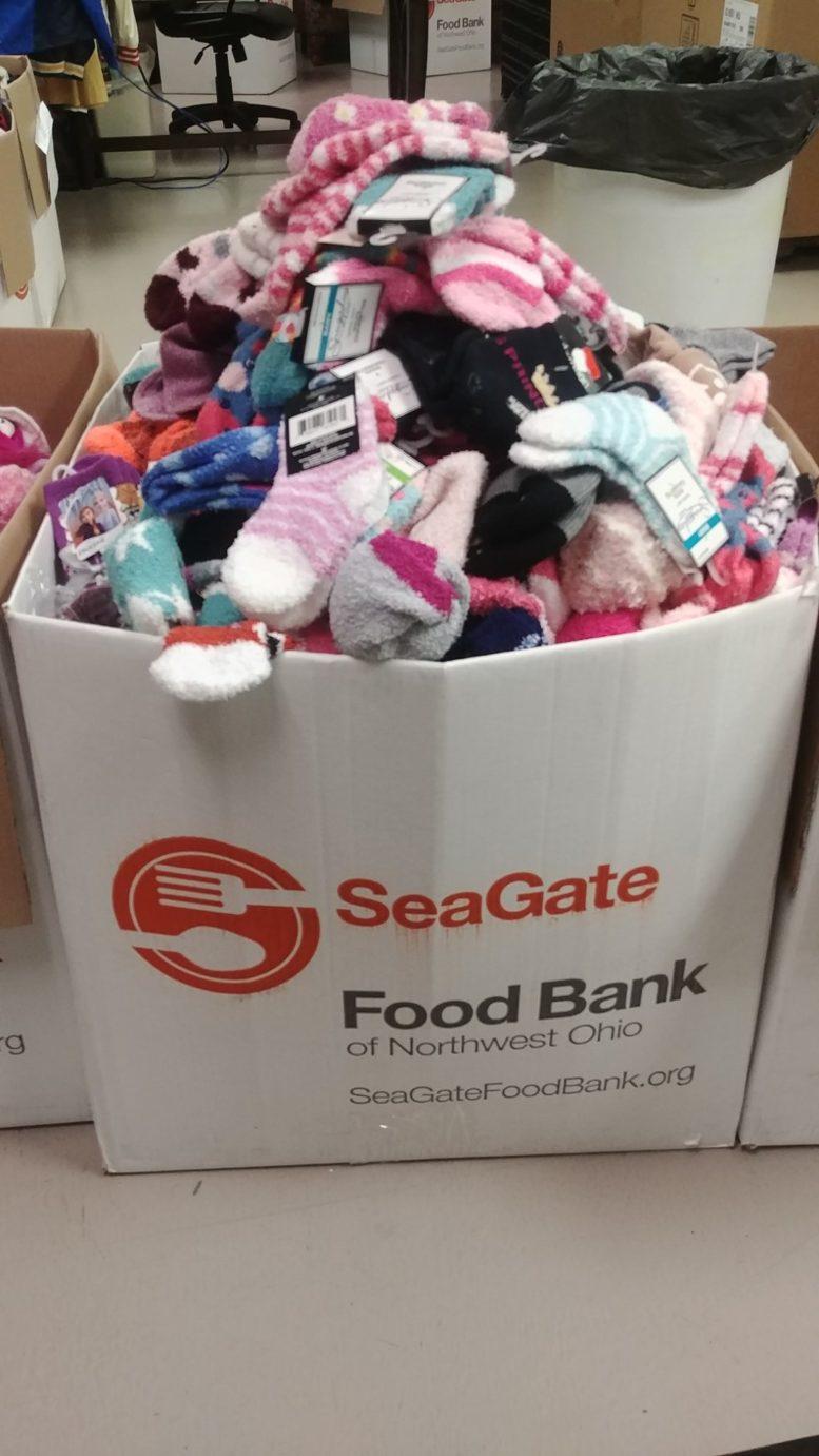 Hannah's Socks donated 645 pairs of sock