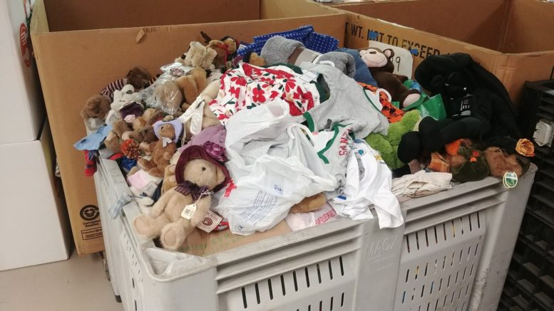 Sylvania Playland has already donated a full tote of pj's, stuffed animals, socks, bl...