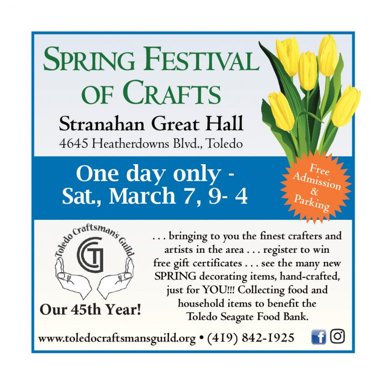 Toledo Craftsman's Guild 1 day only craft show is tomorrow from 9-4. The craft show will b...