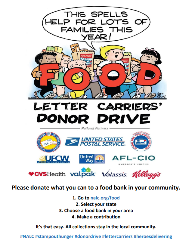 The National Association of Letter Carriers hosts, Stamp Out Hunger, the nation's lar...